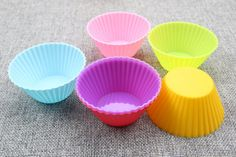 Hot Sale 6pcs/Lot Silicone Muffin Cases