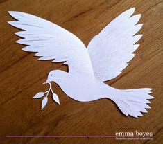 Peace dove Papercut commission by Emma Boyes (Emma Boyes - papercuts) Try Sizzix Bird Die,,, Bird Crafts, Diy And Crafts, Crafts For Kids, Arts And Crafts, Paper Crafts, Kirigami, Neli Quilling, Paper Birds, Paper Flowers