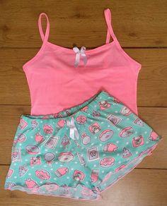 Sexy Pajamas, Cute Pajamas, Girls Pajamas, Pyjamas, Jolie Lingerie, Cute Lingerie, Lingerie Outfits, Cute Lazy Outfits, Pretty Outfits