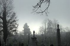 All things truly wicked start from innocence. Cemetery Headstones, Cemetery Art, Keep Image, Dark Paradise, Dark Places, Victorian Gothic, Cathedral, How To Find Out, Places