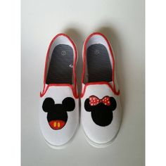 Disney Mickey Minnie Painted Shoes Womens ( 26) ❤ liked on Polyvore 923649b70fe