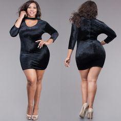 Sazzy Velvet Black Dress