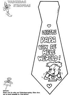 Stropdas - Vaderdag - Knutselpagina.nl - knutselen, knutselen en nog eens knutselen.