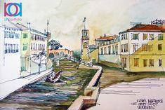Ioana Mihăiescu - Veneţia / Venice, 40 x 30 cm, acuarelă / watercolour Venice, Painters, Australia, Watercolor, Contemporary, Studio, Abstract, Artwork, Italia