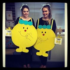 Little Miss Twin and Little Miss Twin from Roger Hargreaves' Little Miss Twins | 49 Awesomely Clever Halloween Costumes For Book Lovers