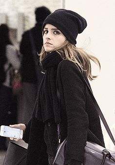 Emma Watson and boyfriend Matthew Janney arrive at JFK Airport on April, 20