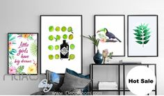Little Girls Have Big Dreams Tucan Canvas Prints Wall Decals Decor Art Unframed IDCCV-BO-000105