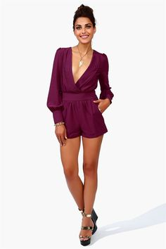 Sultry Romper - Eggplant