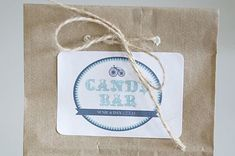 If you have a sweet tooth, giving your guests some sugar is a great idea for a wedding favor. These candy bar labels are inspired by traditional carnivals and can be customized with your names and wedding date. Source: Wedding Chicks