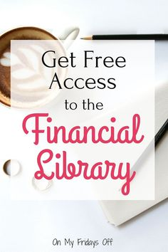 Do you need help getting your finances more organized? Are you looking for resources to get you started? The Financial Library is the perfect place to get started making your money work for you!