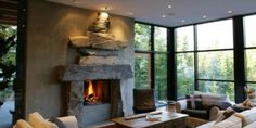 Mountain%20Home%20Fireplace Wonderful Whistler Canada Home Interior Pictures