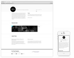 EricPaulSnowden.com Responsive Redesign by Eric Snowden, via Behance