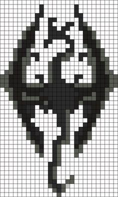 The Elder Scrolls V: Skyrim Perler Bead Pattern