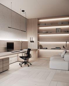 Modern Office Design, Office Interior Design, Wood Interiors, Office Interiors, Concrete Wood, Business Office Decor, Study Room Design, Workspace Design, New Homes