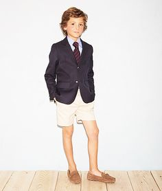Blazer and shorts Boys Dress Outfits, Baby Boy Outfits, Kids Outfits, Boys Short Suit, Boys Suits, Look Blazer, Blazer And Shorts, Fashion Kids, Look Fashion