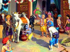 By Advaita Acarya Dasa Worshiping the cows: The Vedic scripture states that all the demigods and demigoddesses reside in the body of a cow. This explains why the body of a cow is divine and holy. Krishna Lila, Cute Krishna, Radha Krishna Photo, Krishna Radha, Shree Krishna Wallpapers, Radha Krishna Wallpaper, Lord Krishna Images, Radha Krishna Pictures, Krishna Statue