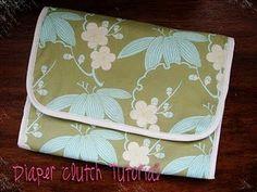 diaper clutch - changing pad