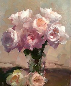 """""""Roses Lit From Above"""" - painting by Dennis Perrin Art Floral, Motif Floral, Paintings I Love, Beautiful Paintings, Oil Painting Flowers, Painting & Drawing, Still Life Flowers, Still Life Art, Rose Art"""