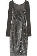 Donna Karan Sequined stretch-jersey dress NET-A-PORTER.COM