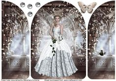 fairy paloma 1 on Craftsuprint designed by Mishara Armenia - Gorgeous white fairy girl quick card - Now available for download!