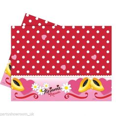 180cm Disney Minnie Mouse Red Polka Dots Children's Party Plastic Table Cover #Party #Disney #MinnieMouse #Decorations #Supplies #Birthday