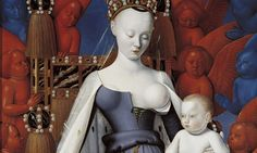 Virgin and Child Surrounded by Angels by Jean Fouquet