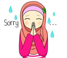 Hana is a girl who loves hijab and always being positive. Let's have fun with her cute expression! Cartoon Stickers, Funny Stickers, Muslim Greeting, Cute Drawings Of Love, Hijab Drawing, Eid Greetings, Islamic Cartoon, Hijab Cartoon, Positive Art