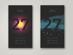 Weather App // Jona Dinges (from a great Dribbble article on tips for Motion Design)