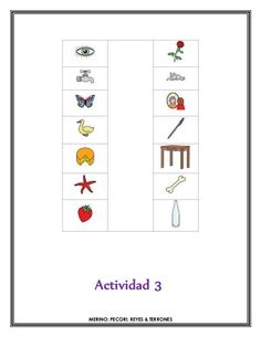Clasifica los dibujos en función a la sílaba inicial
