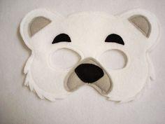 POLAR BEAR Felt Mask for Children. $12.50, via Etsy.