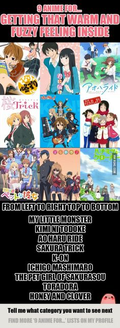 9 Anime For Getting That Warm and Fuzzy Feeling Inside >> i know this is true for my little monster and toradora lol Otaku Anime, Manga Anime, Manga Girl, Anime Art, I Love Anime, All Anime, Awesome Anime, Anime Girls, Animes To Watch