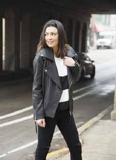 """Brutus Leather Jacket Rebecca Minkoff 