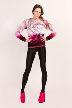 """This sexy sweater with a rosy finish displays a taste of youth, a bit of wildness and a touch of innocence. The """"Pink Life"""" is for those who feel young at heart. Express your joie de vivre. Show the world how good it is to love, to live and to be young."""