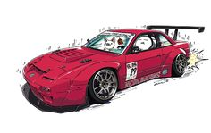 "CRAZY CAR ART ""240SX"" owned by KORUWORKS http://koruworks.com original characters ""mame mame rock"" / © ozizo Official web shop ""STAY CRAZY (in Society6)"" Official web shop ""ozizo(in Redbubble)"" ""Crazy Car Art"" Line stickers ""Crazy car Art"" Telegram..."