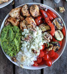 California Chicken, Veggie, Avocado + Rice Bowl.