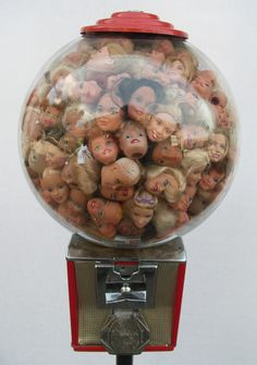 Jake Rifken and Martha Hull, collaborative work. Barbie Gumball Machine.