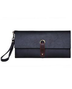 Black PU Clutch Bag