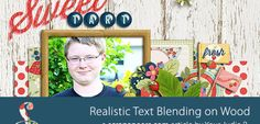 How to Get More Realistic Text Blending on Wood Texture | Scrapaneers