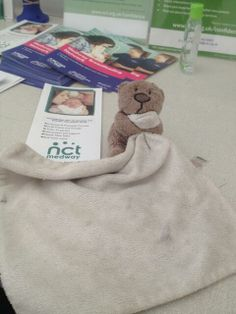 someone's left this very loved teddy and comforter in our tent at the Medway English Festival at Riverside. Contact: Candy Penfold @Candy Penfold on twitter