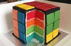 Pastel del cubo Rubik