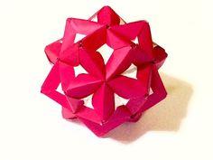 Origami Kusudama Flower. 折り紙 くす玉 薗部式 裏出しユニット 花 - YouTube