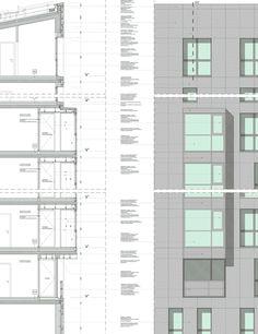Social Housing CasaNova. Details facades