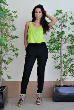 Black and Neon outfits