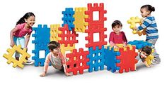 Toy Stacking Block Sets - Little Tikes Big Waffle Block Set  18 pieces *** More info could be found at the image url.