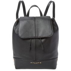 Marc Jacobs Women's Pine Street Leather Bag - Black (945 RON) ❤ liked on Polyvore featuring bags, handbags, shoulder bags, black, leather drawstring purse, leather drawstring handbags, genuine leather handbags, shoulder strap handbags and leather purses