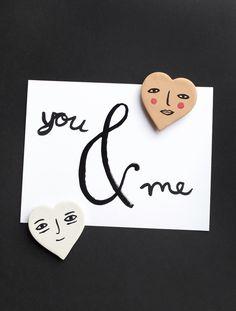 Mer Mag: DIY Valentine Heart Magnets