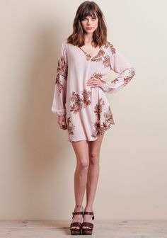 Head from the mall to a night out on the town with your girls in this adorable patterned mini dress. Bell Sleeves, Bell Sleeve Top, Girls Night Out, Your Girl, Mall, Prints, Clothes, Tops, Dresses
