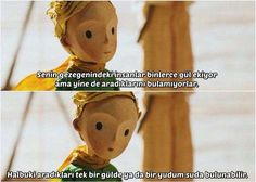 Küçük Prens Sözleri | Resimli Güzel Sözler Little Prince Quotes, The Little Prince, Vintage Hipster, Vintage Cartoon, Film Quotes, Book Quotes, Anti Social, Some Words, Quotations
