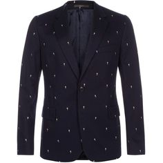 Paul Smith Men's Classic-Fit Navy Cotton-Twill 'Ice Cream' Print... (5.155 VEF) ❤ liked on Polyvore featuring mens, men's clothing and sportcoats