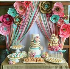 Birthday Decorations, Baby Shower Decorations, Baby Shower Parties, Baby Showers, Baby Birthday, Birthday Parties, Birthday Ideas, Shower Bebe, Sweet 16 Parties